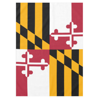 Maryland State Flag Festive Design Tablecloth