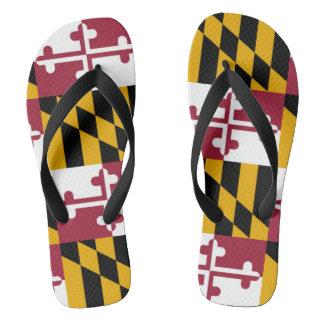 Maryland State Flag Flip Flops