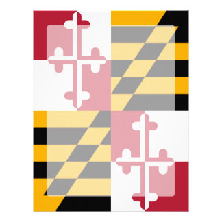 Maryland State Flag Graphic Letterhead