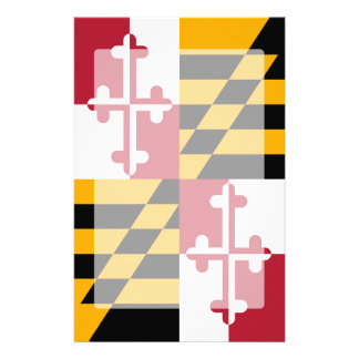 Maryland State Flag Graphic Stationery