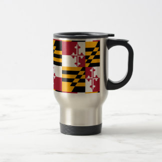 Maryland State Flag Graphic Travel Mug