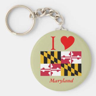 Maryland State Flag Keychain