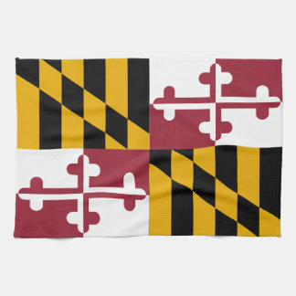 Maryland State Flag Kitchen Towel