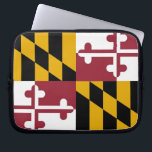 "Maryland State Flag Laptop Sleeve<br><div class=""desc"">Elegant Laptop Sleeve with Maryland State Flag. United States of America. This product its customizable.</div>"