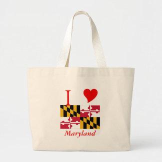 Maryland State Flag Large Tote Bag