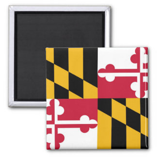 Maryland State Flag 2 Inch Square Magnet