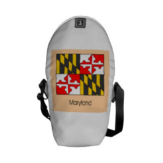 Maryland State Flag Courier Bags