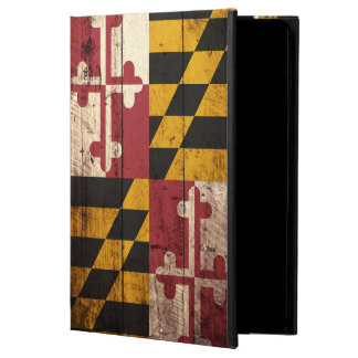 Maryland State Flag on Old Wood Grain Powis iPad Air 2 Case