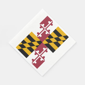 Maryland State Flag Paper Napkin