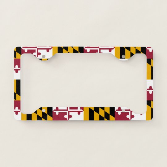 Orange Pattern Auto Car License Plate Frame Tag Holder 4 Hole