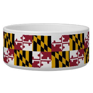 Maryland State Flag Pet Bowl