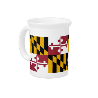 Maryland State Flag Pitcher
