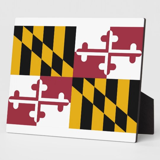 Maryland State Flag Plaque