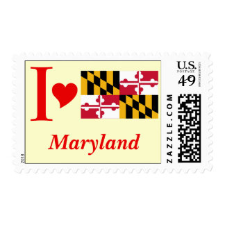 Maryland State Flag Postage Stamp