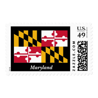 Maryland State Flag Postage Stamp