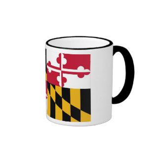 Maryland State Flag Ringer Mug