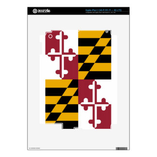 Maryland State Flag Decal For iPad 3