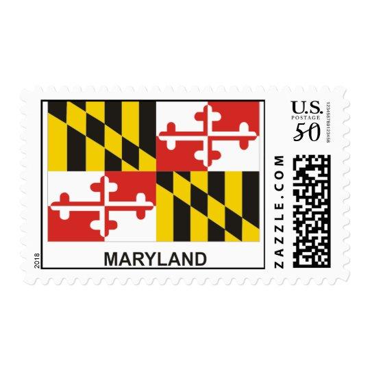 MARYLAND State Flag Stamp