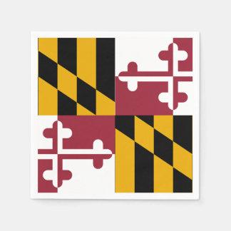Maryland State Flag Standard Cocktail Napkin