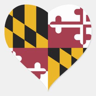 Maryland State Flag Heart Sticker