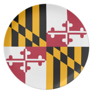Maryland State Flag Style Decor Melamine Plate
