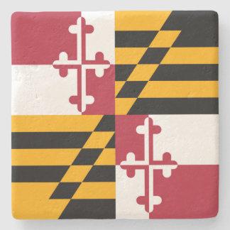 Maryland State Flag Style Decor Stone Coaster