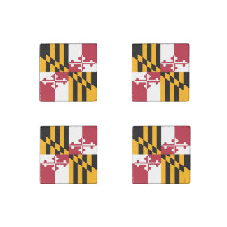 Maryland State Flag Stylish Accent Decor Stone Magnet