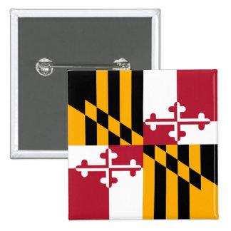 Maryland State Flag Stylish Graphic Pinback Button