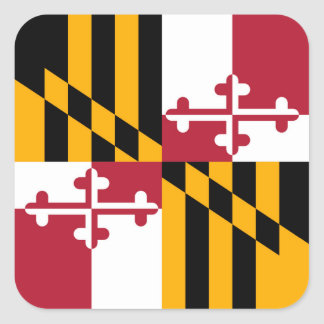 Maryland State Flag Stylish Graphic Square Sticker
