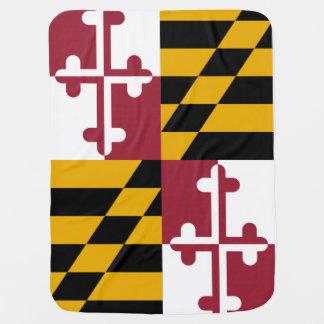 Maryland State Flag Swaddle Blanket