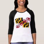 Maryland State Flag T-shirt at Zazzle