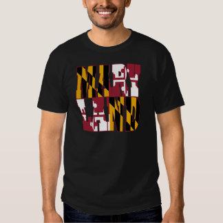 Maryland state flag text tshirts