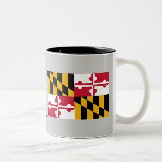 Maryland State Flag Two-Tone Coffee Mug