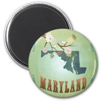 Maryland State Map – Green Magnet