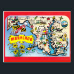 "Maryland State Map Postcard<br><div class=""desc"">Maryland State Map Postcard</div>"