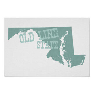 Maryland State Motto Slogan Poster