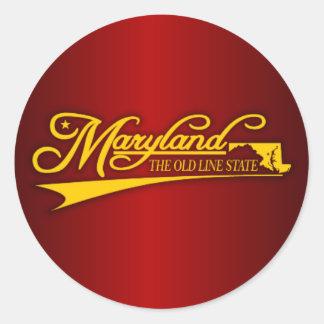 Maryland State of Mine Round Sticker