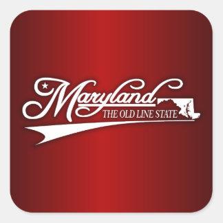 Maryland State of Mine Square Sticker