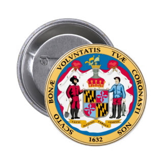 Maryland State Seal 2 Inch Round Button