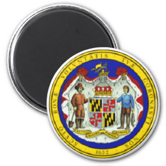 Maryland State Seal 2 Inch Round Magnet