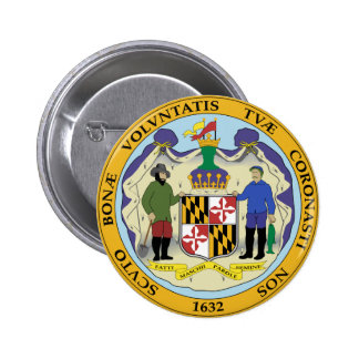 Maryland State Seal Button