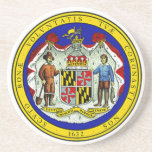 """Maryland State Seal Coaster<br><div class=""""desc"""">Maryland State Seal Coaster</div>"""