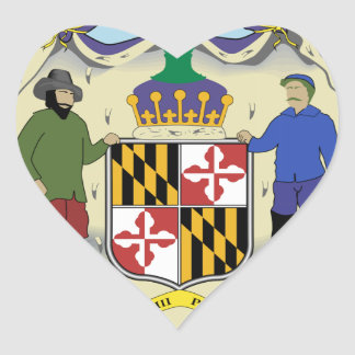 Maryland State Seal Heart Sticker