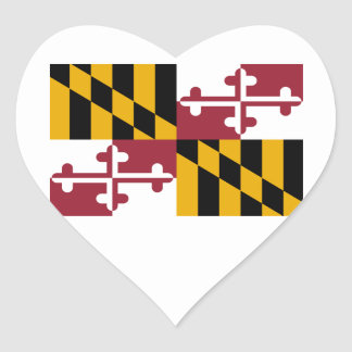Maryland Heart Sticker