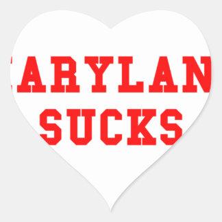 Maryland Sucks Heart Sticker