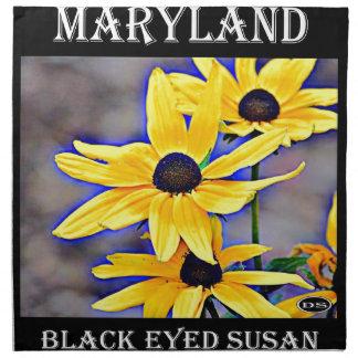 Maryland Susan observada negro Servilletas
