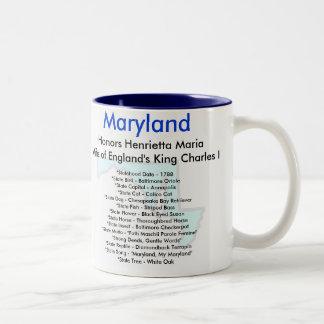 Maryland Symbols & Map Coffee Mug