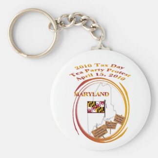 Maryland Tax Day Tea Party Protest Key Chains