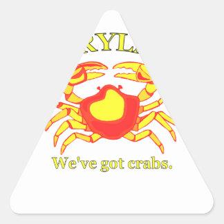 Maryland, tenemos cangrejos pegatina triangular