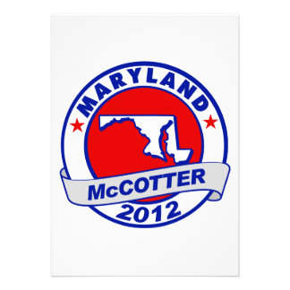 Maryland Thad McCotter Custom Announcements